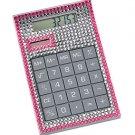 Office Bejeweled Calculator ~ Pink Desktop Hand Held Calculator ~ New In Box