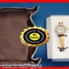 Watch Sparkling Gift Set with Hoop Earrings and Catch All Tray ~ Goldtone NIB