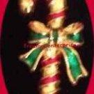 Christmas PIN AVON Candy Cane Tac Pin Goldtone & Enamel in Red Basket @1993 NIB