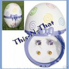 Earring Easter Egg Box with 2 pairs Earrings NEW For Spring