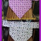 Dog Reversible Neckerchief Collar Sleeve Purple Large