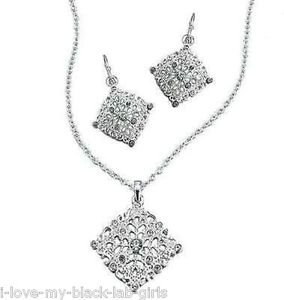 Necklace, Earring Marie Sophie Gift Set ~ Silvertone ~ NEW Boxed
