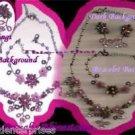Necklace, Bracelet & Earring AURORA BOREALIS Rhinestones Gift Set ~Vintage~VGC