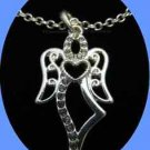 Necklace Angelic Necklace Silvertone with Black Gift Box (Avon Circa 2013)