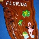 Ashtray Florida State Shaped Retro Ceramic Vintage Japan Excellent Condition