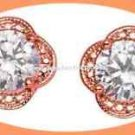 Earring Signature Brilliance Picture-Perfect CZ Studs Rose Goldtone 2016-Gift