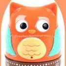 Kitchen Timer Owl 60 Minute Mechanical Owlet (Orange-Brown-Turquoise) (Quant. 1)