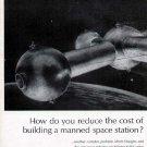 1963 Douglas Space Print Ad-Spaceball Futuristic Rocket