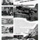 1947 Edo Float Aircraft Print Ad-Sport Fishing Airplane