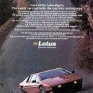 1980 Lotus Esprit Sports Car Print Ad-Colin Chapman Inventor