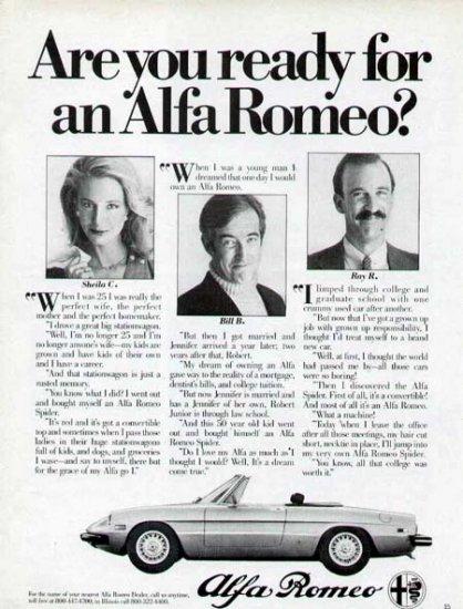 1980 Alfa Romeo Sports Car Vintage Print Ad