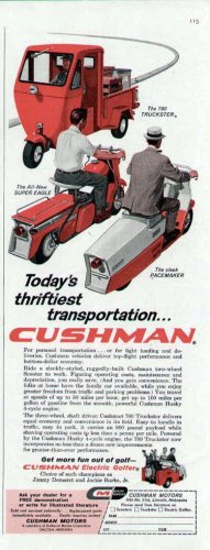 1959 Cushman Scooter Truckster Print Ad-Super Eagle Pacemaker