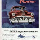 1952 Pontiac Vintage Car Print Ad-Red Color