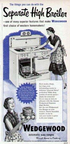 1952 Wedgewood Gas Cook Range Print Ad-High Broiler