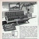 1952 Ranch Oak Furniture Print Ad-A. Brandt Design