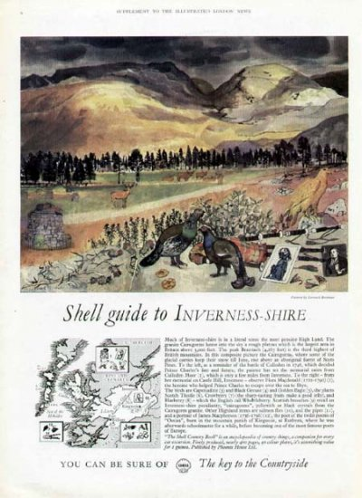 1962 Shell Petroleum Ad-Guide to Inverness Shire Britian