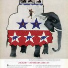1963 British Petroleum Print Ad-Hannibal Elephant Art Peter Phillips