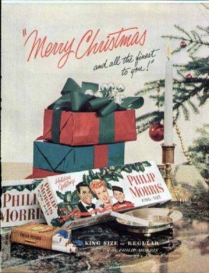 1953 Philip Morris Cigarette Ad-Lucy & Desi I Love Lucy