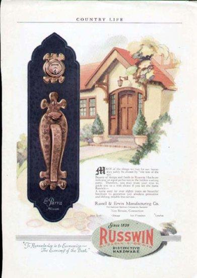 1920's Russwin Hardware Print Ad-Craftsman Door Handle