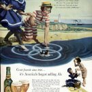 1947 Ballantine Ale Vintage Print Ad-Swimming Bathing 1840's