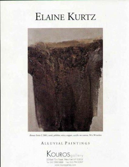 2001 Kouros Gallery Print Ad-Elaine Kurtz Art Artist