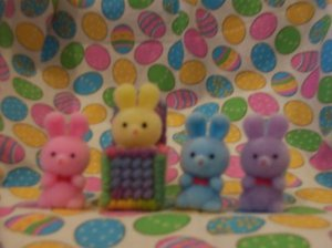 Easter Bunny in a Box Magnet