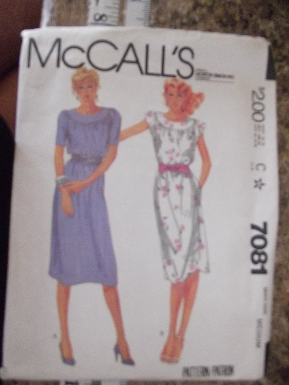 Vintage McCalls pattern 7081 size Medium From 1980