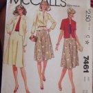 Vintage McCalls pattern 7461 size 16