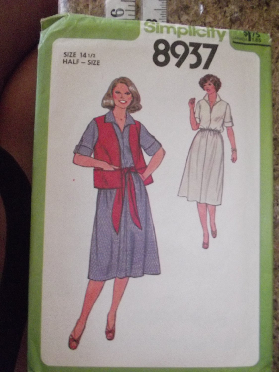 Vintage Simplicity pattern 8937 SZ 14 1/2 Uncut from 79