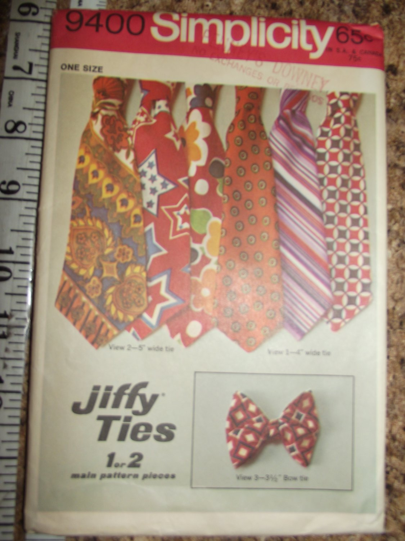 Vintage Simplicity 9400 Jiffy Ties & Bow Tie Uncut