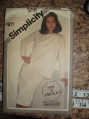 Vintage Simplicity Pattern 5791 1980's size 14 & 16