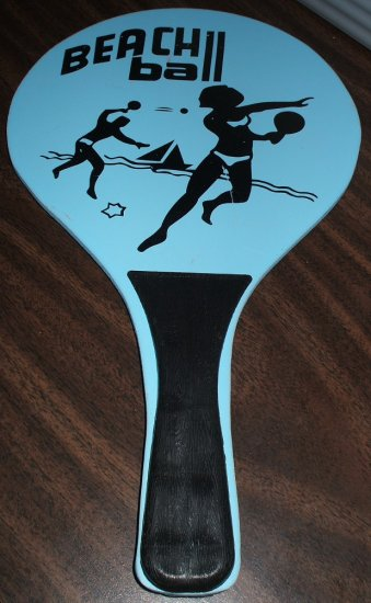 RP - Wooden Beach Ball Pickle Ball / Jokari Type Paddle