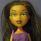 "Bratz Sasha Doll In Black Pleated Skirt and Purple Top - 2001 MGA 10"""