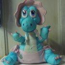 1987 Vintage LJN Tiny Dinos 14 Inch Plush Bronty Baby Brotosaurus