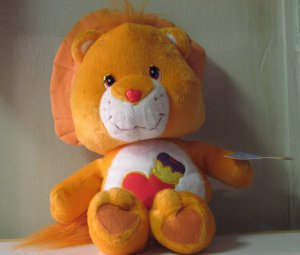 14 Inch Care Bear Cousins Plush Brave Heart Lion - 2005 - With Tag