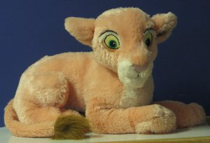 "Lion King Nala Lioness Cub Plush - 14"" - Disneyland / Disneyworld Exclusive - Extra Soft"