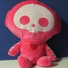 """Skelanimals Marcy Monkey 13"""" Undead Plush - Fiesta - Hot Pink"""
