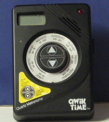 "Qwik Time Digital Electronic Quartz Metronome - 1995 - 3 1/2"""
