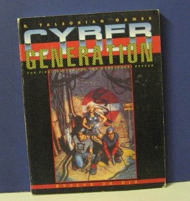 Cyberpunk CP3251 Cyber Generation Supplement Book Talsorian Games 1993 RPG