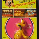 Disney Mini Winders Wind Up Hopping Pluto 1970s Vintage Durham Industries MoC