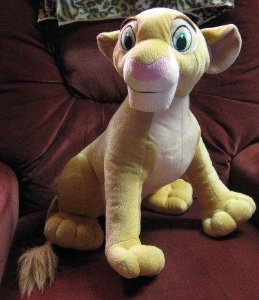 "Lion King Plush Nala Lioness - Disney / Hasbro 2002 - 20"" Long"