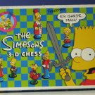 Simpsons 3-D Chess Game 1992 Vintage - Complete