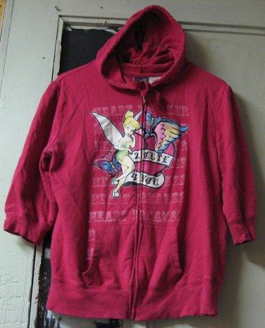 Tinkerbell Girl's Hoodie Sweater 2 Cute 4 You - Junior XL (15/17) - Pink - Hoody