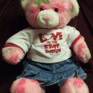 Pink Build a Bear Plush with Denim Skirt and Love Inside Shirt