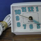 Westclox Analog Electric Alarm Clock - White - Glow In the Dark - E54 / E55