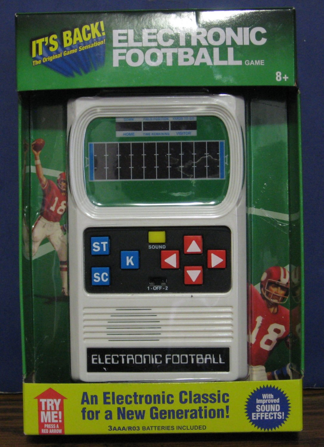 Mattel Electronic Football - 2016 Improved Sound Effects Remake - New In Package