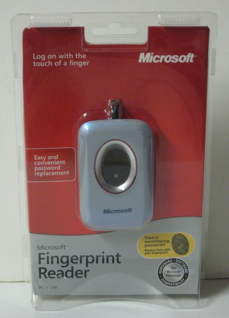 SOLD - Microsoft Fingerprint Reader - Model 1033 - USB - New - XP / Vista