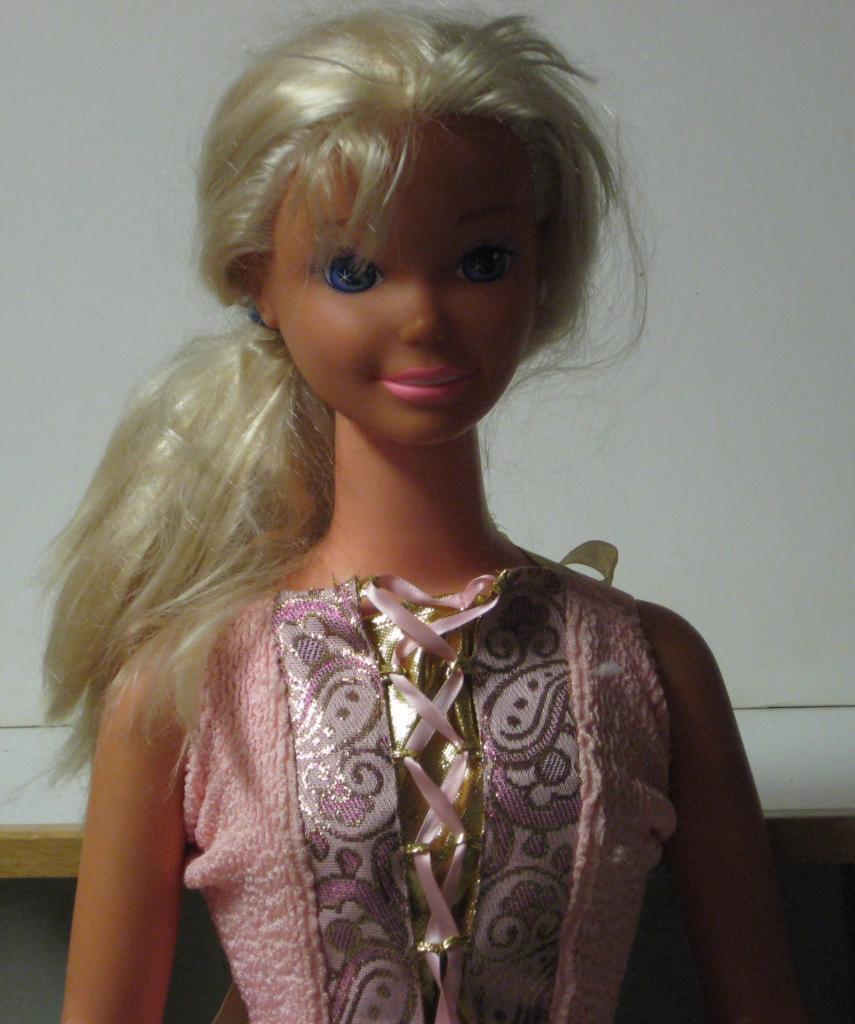 My Size Barbie 38 Inch Blonde Princess Doll - 1992 Mattel White Dress