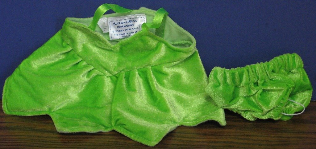 Build a Bear Workshop Green Tinkerbell Fairy Dress and Panties for Teddy Bears