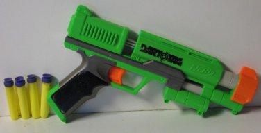 Nerf Dart Tag Stormfire Soft Dart Gun Single Shot Blaster Green With 4 Darts